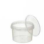565ml Tamper Evident Clear Cont & Lid set [56512]